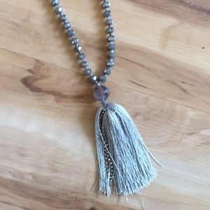 Anthropologie tassel necklace.